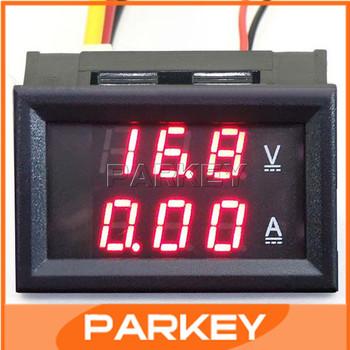 YB27VA DC0-100V/10A LED DC Dual Display Digital Current Voltage Meter 12V/24V Electric Car Monitored Voltage Table 2in1 #200932