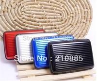 Free Shipping 600pcs 9 colors Aluminium Wallet As Seen On TV Credit Card Holder Aluma Wallet Card Guard