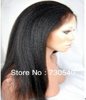 virgin mongolian yaki hair 130% -150%density 4*4 silk top full lace wigs_ virgin human hair free shipping,IN stock (283)