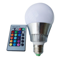 10W E27 RGB LED Light Lamp Bulb Spotlight with Remote Control 85-265V Low price Factory outlet