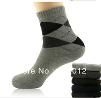Men thick cotton socks fashion knee sock 5 pairs