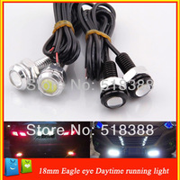 new  3W 18mm   Eagle Eye lamp Car Rear Light  High Power  Car  light  Daytime Running Light  White Color