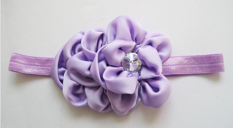 MOQ 1Pc New Style Rhinestone Headband Hairband Baby Girls Flowers Headbands Kids Hair Accessories Baby Christmas Gift TF007