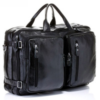 Large-capacity Full Grain cowhide/genuine leather men travel bags briefcase handbag M/L size