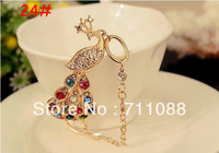 lt FREE SHIPPING 3PCS/LOT MIXED ORDER peacock bracelet goldn hair clasp vintage earrings