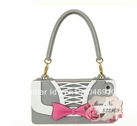 free shipping!Luxury Wristlet Chain Handbag Skin Soft Silicone bow Case For iPhone 5