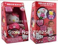 1pc-2014 brand new musical baby doll toy kt cat sleep good night plush light up nightlight infant soft toys gz3