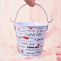 20pcs/lot mini wedding tin candy buckets wedding pails wedding favor metal buckets wedding candy box