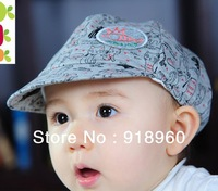 2013 New Fashion Polo baseball cap/children's gilr's& boy's sunhat /cat pattern Free shipping Wholesale good quality 2 colors