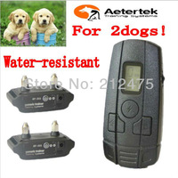AETERTEK GT-211SW 350M REMOTE Electric DOG TRAINING SHOCK Vibrate SOUND COLLAR 400 YARDS For SMALL LITTLE DOG CAT 2Dogs