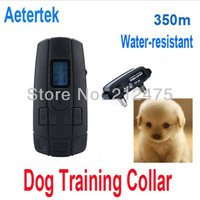 Wholesale AETERTEK GT-211-350SW 1 Dog 350M Water-resistant Rechargeable Pet Dog Training Collar Trainer For Small Dog/Cat