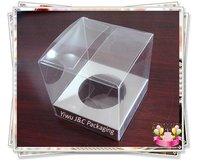 7x7cm Mini Clear Cupcake Boxes,Wedding Cupcake Box, Single Cupcake Box (JCP-268C)