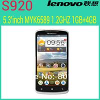 "in stock Russian menu original lenovo S920 phone 5.3"" IPS Android 4.2 OS MTK6589 Quad-core CPU RAM 1GB+4GB ROM Dual sim WIFI GPS"