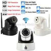 DB Power HD011P 720P IP Camera Wireless Wifi CCTV Camera HD Indoor Pan/Tilt IR CUT Night Vision Support 32G SD Card