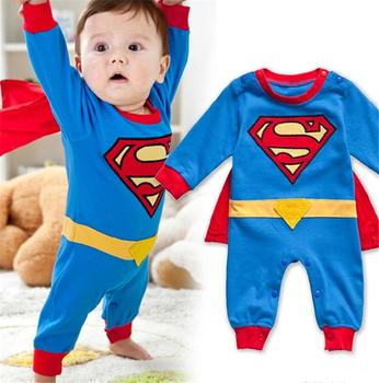 Детский карнавальный костюм супермена на мальчика. Размеры от 4 до 24 месяцев.