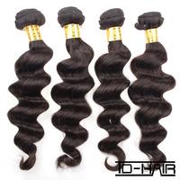TD Hair Products Brazilian Loose Wave Virgin Hair Weave Unprocessed Virgin Hair Weaving 4pcs Lot Natural color 1B