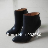 2013 Cow leather boots for women high heel platform boots woman sexy fashion snow boots winter wedge heels