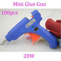 Fedex Free+100pcs 20W 7mm 110-240V Mini Electric Heating Hot Melt Glue Gun+EU/AU/US/UK outlet for fusion hair extensions