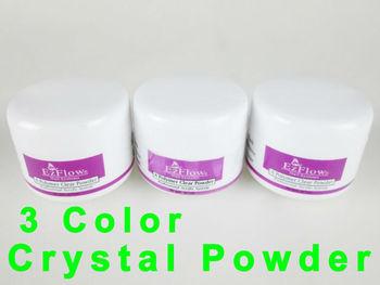 841013 3 Pcs Colours Glass Glossy Acrylic Nail Art Beauty Fascinating Fast Dry Rose Crystal Powder