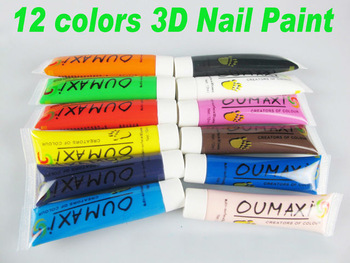 841014 12 Pcs Colours Artificial Fascinating Nail Polish Style UV Gel Acrylic Design 3D Nail Paint