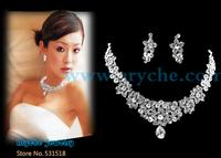 T6970 Wholesale New Fashion Beautiful Bridal Jewelry Sets Crystal Rhinestone Jewelry For Wedding