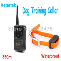Aetertek AT-216-350S-1 400 Yard Waterproof & Rechageable Electric Shock Pet Dog Training Collar For 1 Dog Trainer Products