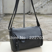 new 2014 free cowhide casual genuine leather women messenger bag high quality fashion cross body bags neon colors
