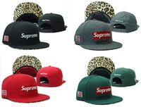 2013 New arrival Supreme 5 Panel Camp Caps Leopard Snapbacks hats cheap Adjustable hat hot sale flower Free Shipping