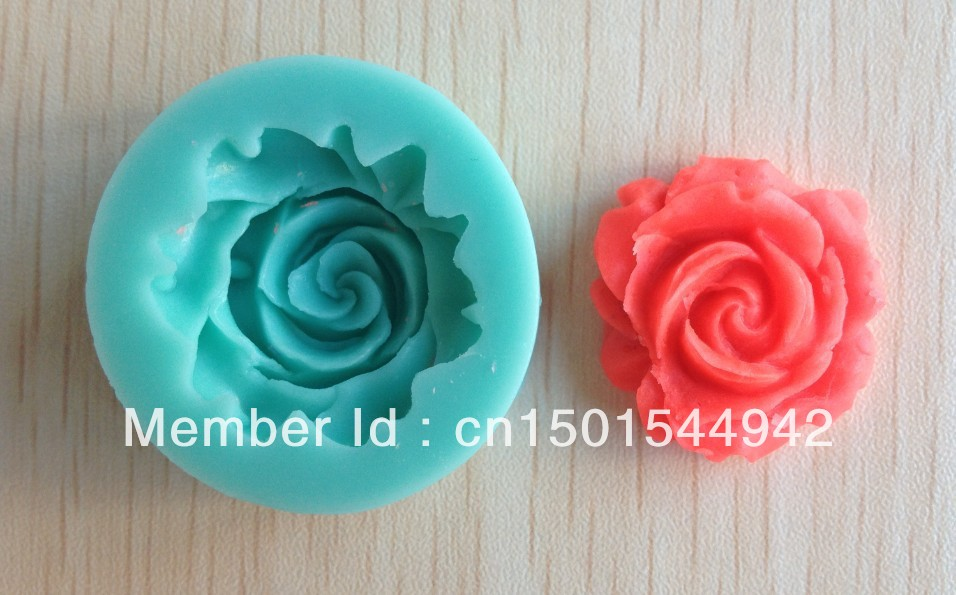 Free shipping 1Pcs Rose shape Chocolate Candy Jello 3D silicone Mold Mould cake tools Bakeware Pastry bar Soap Mold C007(China (Mainland))
