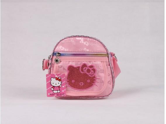 2014 brand new fashion children shouldren bag,korean style cartoon hello kitty pink tote handbag best gift for kids(BAG-271)(China (Mainland))