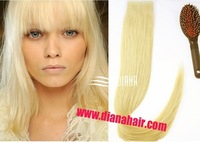 "6A European hair extensions blonde 60# PU virgin Tape in Hair, 20pcs/lot 18""-24"" virgin tape hair &italian tape free shipping"