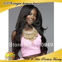 Beauty queen hair 100% malaysian virgin human hair U part wig wavy any color instock Free Shipping