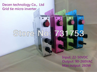 Kind note !!!!!!!!!  NEW  260W  IP65 grid tie inverter with communication and monitoring function,22-50VDC