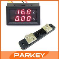 """5 PCS/LOT 2in1 Volt Amp Dual display Meter 2in1 0.28""""  DC 0-100V 50A Red LED Voltmeter Amperemeter With Resistive Shunt #200940"""