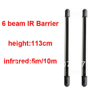 6 six beams IR fence infrared sensor distance:5m/10m.Height:113cm with internal wiring Infrared Barrier detector