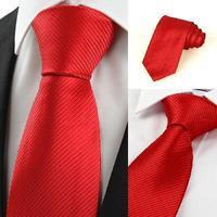 New 2014 Men's Fashion Brand Striped Jacquard Woven Classic Type Business Silk Tie Necktie for Men Black White Blue Red Silver