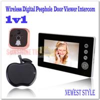 """Wireless 7"""" LCD Digital Security Door Viewer Peephole/Spyhole Camera/Video Door Bell /video door phone intercom systems"""