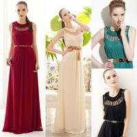 Goddess Womens Hollow Sleeveless Summer Maxi Party Cocktail Long Dress