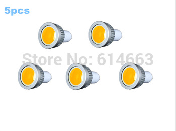 5pcs/lot Free shipping hot sales GU5.3  5W LED COB Spot Light Bulbs Warm White/Cool White High Brightness Wholesale