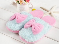 Women's warm winter soft  Lovers Indoor Floor Slippers Sky Blue/Red/Purple