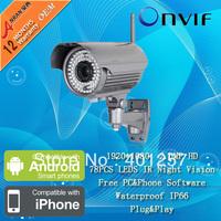 2.0 MegaPixel SONY HD Onvif 78 IR Waterproof Wireless Wifi Network IP Surveillance CCTV Camera 4-9mm
