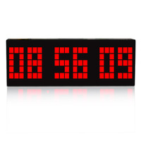 Large Digital LED Snooze Wall Desk Alarm Clock Timer Date Temperature Free Shipping