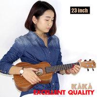 Free shipping/KAKA 23 inch Mahogany soprano Ukulele handcraft wood mini Guitar child Guitarra 4strings uke hawaii guitar ukelele