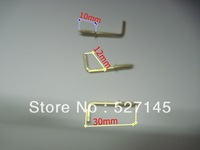 Free Shipping 200Pcs/Lot Screw Square Cup Hooks / Dresser Hooks 30x12mm Jewelry Findings