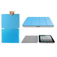 Free shipping Multi-Color PU Leather Smart Magnetic Cover+Hard Back Case Shell,Scrub Back Case For Apple  iPad 2 3 4,1pcs/lot