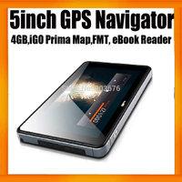 Cheapest Car GPS Navigator 5inch+SDRAM128MB+4GB Memory+FMT+MTK+Wince 6.0+Free Map
