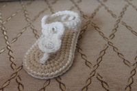 Crochet baby shoes handmade infant kids cute sandals bow circle button cotton 0-12M size 14pairs/lot custom