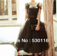 2013 new arrival formal dress fashion pompon formal dress bow sweet princess dress evening dress
