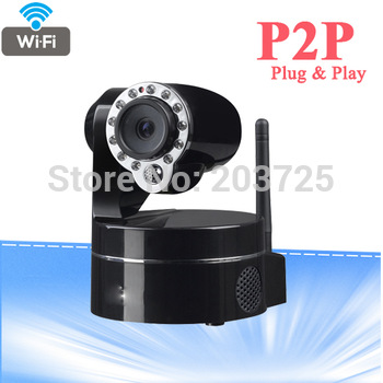 promotional products p2p peer to peer plug and play infrared wifi wireless ip camera with motion detective and two way audio