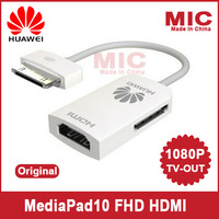 100% Original HUAWEI MediaPad10 FHD HDMI MHL adapter cable switch wire for HD 1080P Video Output  TV-OUT for Tablet PC C8